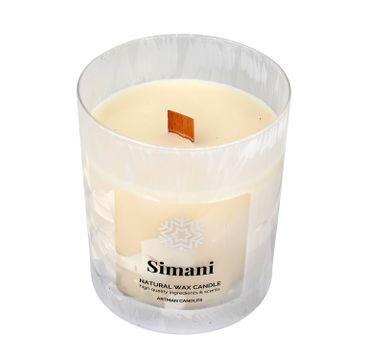 Artman – Boże Narodzenie Świeca zapachowa Organic Winter Simani z drewnianym knotem (1 szt.)