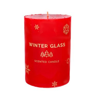 Artman – Boże Narodzenie Świeca zapachowa Winter Glass czerwona - walec (1 szt.)