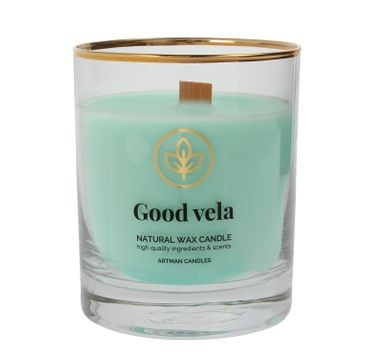 ARTMAN Organic Świeca zapachowa z drewnianym knotem Good Vela 1 szt