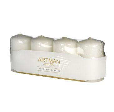 Artman świeca ozdobna 4-pack Lakier biała walec mały (1op.- 4 szt.)