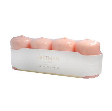 Artman świeca ozdobna 4-pack Lakier różowe złoto walec mały (1op. - 4 szt.)