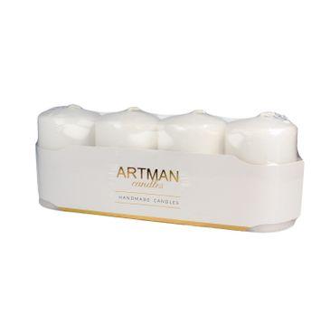 Artman świeca ozdobna 4-pack Mat biała walec mały (1op.- 4 szt.)