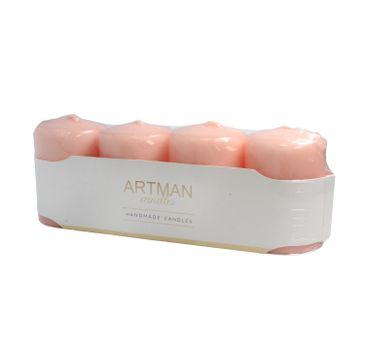 Artman świeca ozdobna 4-pack Mat różowe złoto walec mały (1op. - 4 szt.)