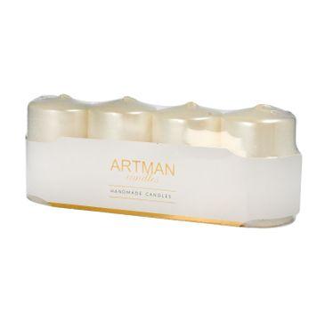 Artman świeca ozdobna 4-pack Metalic biała walec mały (1op.- 4 szt.)