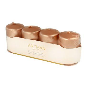 Artman świeca ozdobna 4-Pack Metalic różowe złoto (1 op. - 4 szt.)