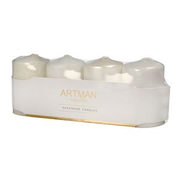 Artman świeca ozdobna 4-pack Mix walec mały (1op.- 4 szt.)