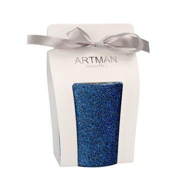 Artman – Świeca ozdobna Glamour Glass granatowa - walec średni (1 szt.)
