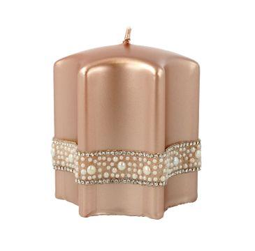 Artman – Boże Narodzenie Świeca ozdobna Crystal Pearl rose gold - gwiazda mała (1 szt.)