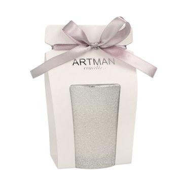 Artman – Świeca ozdobna Glamour Glass biała - walec średni (1 szt.)