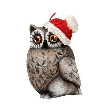 Artman – Boże Narodzenie Świeca ozdobna Sowa Świąteczna brązowa - zwrócona w lewo (1 szt.)
