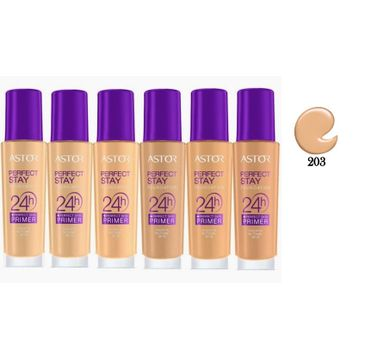 Astor Perfect Stay 24H Foundation + Perfect Skin Primer podkład do twarzy i baza 203 Peachy SPF20 30ml