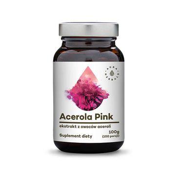 Aura Herbals Acerola Pink ekstrakt z owoców aceroli proszek suplement diety 100g