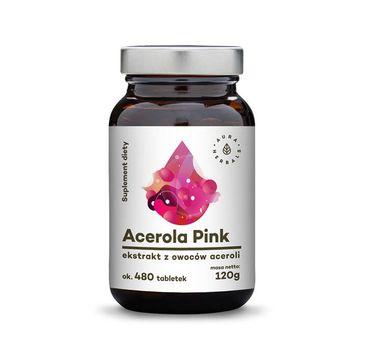 Aura Herbals Acerola Pink ekstrakt z owoców aceroli tabletki suplement diety 120g