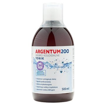 Aura Herbals Argentum 200 tonik do twarzy 200PPM Srebro Koloidalne 500ml