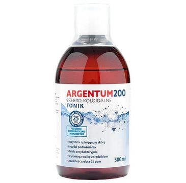 Aura Herbals Argentum 200 tonik do twarzy 25PPM Srebro Koloidalne 500ml