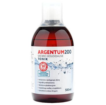 Aura Herbals Argentum 200 tonik do twarzy 50PPM Srebro Koloidalne 500ml