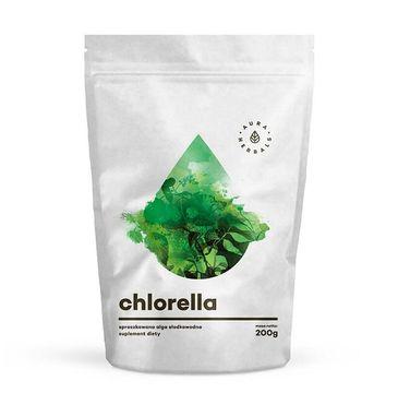 Aura Herbals Chlorella sproszkowana alga słodkowodna suplement diety 200g