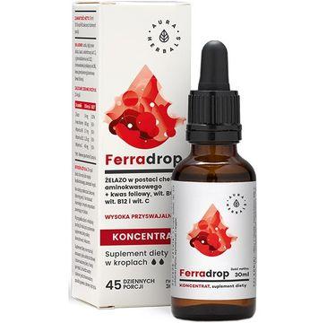 Aura Herbals Ferradrop Żelazo + Kwas Foliowy suplement diety w kroplach 30ml