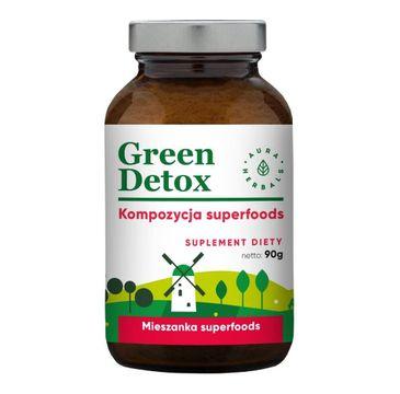 Aura Herbals Green Detox sproszkowany suplement diety 90g