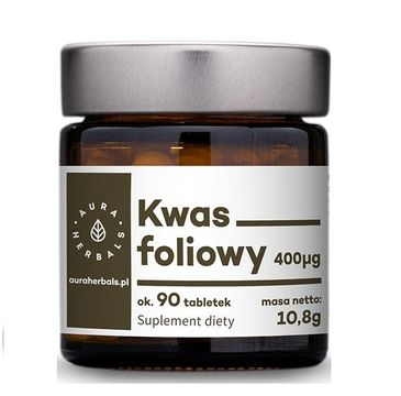 Aura Herbals Kwas Foliowy 400µg suplement diety 90 tabletek