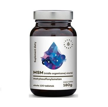 Aura Herbals MSM organiczny związek siarki suplement diety 120 tabletek