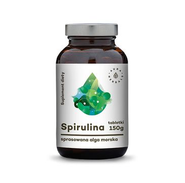 Aura Herbals Spirulina sprasowana alga morska suplement diety 150g