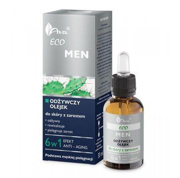 AVA Eco Men odżywczy olejek do skóry z zarostem 6w1 30 ml