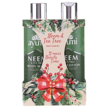 Ayumi X-mass Beauty Time Neem & Tea Tree Body Care zestaw stymulujący płyn do mycia ciała 250ml + nawilżający balsam do ciała 250ml (1 szt.)