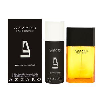 Azzaro Pour Homme zestaw travel exclusive woda toaletowa 100ml + dezodorant spray 150ml