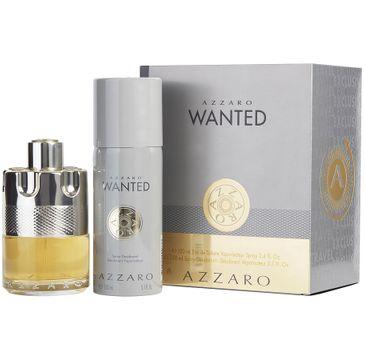 Azzaro Wanted zestaw woda toaletowa spray 100ml + dezodorant spray 150ml