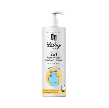 AA Baby Soft - łagodny płyn do mycia i kąpieli  2w1 500 ml