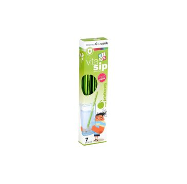 VitaSip –  suplement diety Witamina C+Cynk+Jabłko – słomki z witaminami do picia (1 op.)