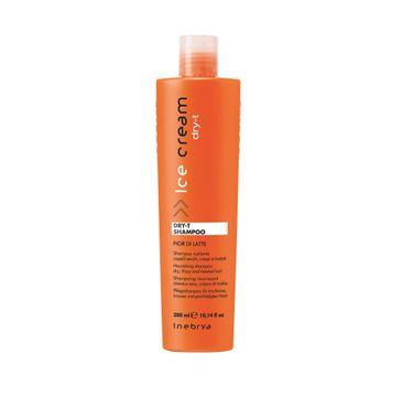 Inebrya Ice Cream Dry-T Shampoo – szampon nawilżający do włosów suchych i zniszczonych z proteinami jedwabiu (300 ml)