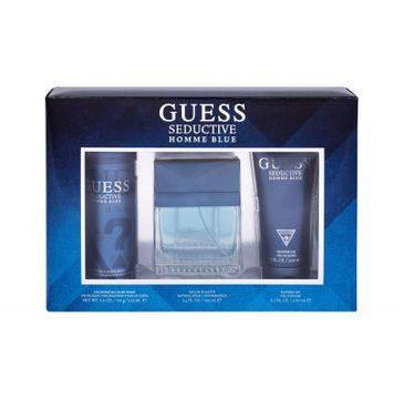 Guess Seductive Blue Homme zestaw woda toaletowa spray 100ml + żel pod prysznic 200ml + dezodorant spray 226ml