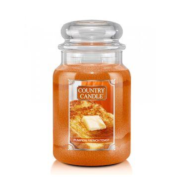 Country Candle – Duża świeca zapachowa z dwoma knotami Pumpkin French Toast (680 g)