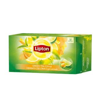 Lipton Green Tea herbata zielona Cytrusowa 40 torebek 52g