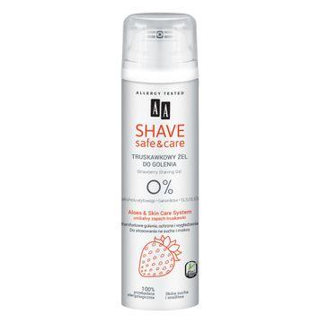 AA – Shave Safe&Care żel do golenia Strawberry (200 ml)