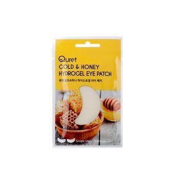 Quret – Hydrogel Eye Patch odżywczo-rozświetlające płatki pod oczy Gold & Honey (2 szt.).