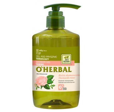 O'Herbal Shower Gel Toning żel pod prysznic tonizujący z ekstraktem z róży damasceńskiej 750ml