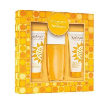 Elizabeth Arden Sunflowers zestaw woda toaletowa spray 100ml + balsam do ciała 100ml + krem 100ml