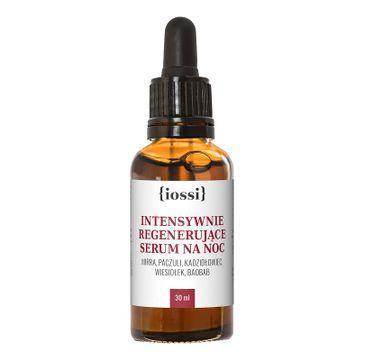 iossi Intensywnie Regenerujące serum na noc wiesiołek baobab mirra kadzidłowiec i paczuli (30 ml)