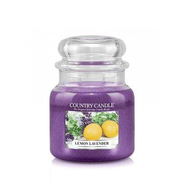 Country Candle – świeca zapachowa z dwoma knotami Lemon Lavender (453 g)