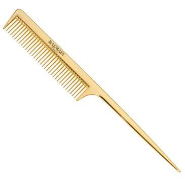 Balmain Golden Tail Comb profesjonalny złoty grzebień do strzyżenia ze szpikulcem