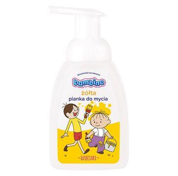 Bambino – Dzieciaki Pianka do mycia dla dzieci Żółta (250 ml)