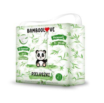 BambooLove Pieluszki jednorazowe z włóknem bambusowym rozm. L 9-14 kg (21 szt.)