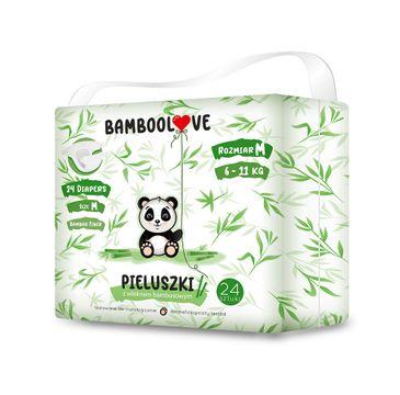 BambooLove Pieluszki jednorazowe z włóknem bambusowym rozm. M 6-11 kG (24 szt.)
