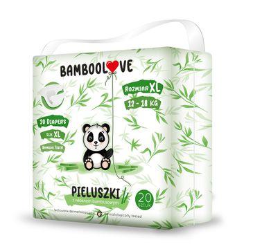 BambooLove Pieluszki jednorazowe z włóknem bambusowym rozm. XL 12-18 kg (20 szt.)