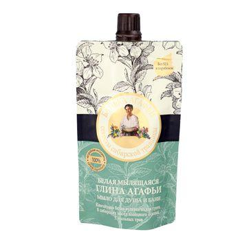 Bania Agafii mydło do ciała i włosów Biała Glinka (100 ml)