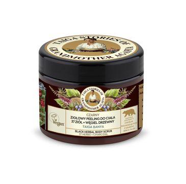 Bania Agafii Tajga Stories naturalny czarny oczyszczający peelingdo ciała na bazie 37 ziół i węgla drzewnego (300 ml)