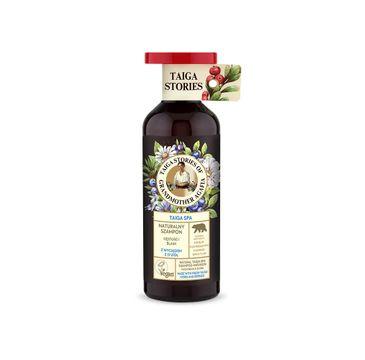 Bania Agafii Tajga Stories naturalny dodający objętości i blasku szampon do włosów z wyciągiem z 37 ziół (500 ml)